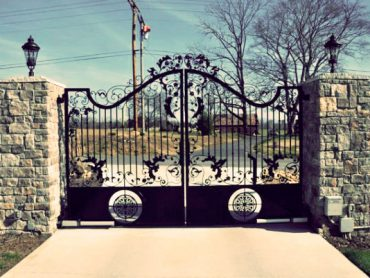 Residential-Custom-Iron-Swing-Gate----Advanced-Entry-Systems